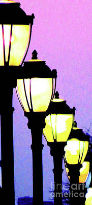 Gas Lamp Photograph - Lamps 1g by Ken Lerner