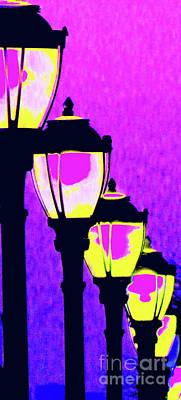Gas Lamp Photograph - Lamps 1h by Ken Lerner