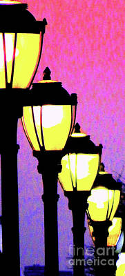 Gas Lamp Photograph - Lamps 1j by Ken Lerner