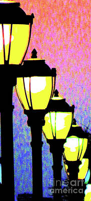 Gas Lamp Photograph - Lamps 1k by Ken Lerner