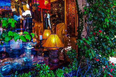 Widow Display Photograph - Lamps For Sale by Carl Cox