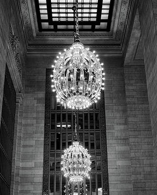 Photograph - Lamps In Grand Central Station by Lora Lee Chapman