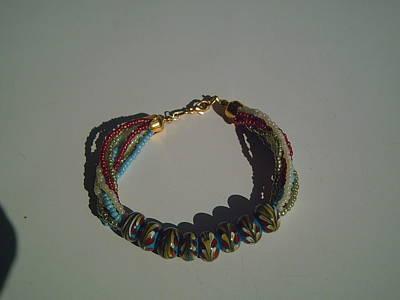 Lampwork Bracelet Glass Art - Lampwork Bracelet by Ozlem Ercan