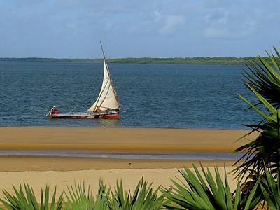Lamu Island - Wooden Fishing Dhow - Colour Art Print