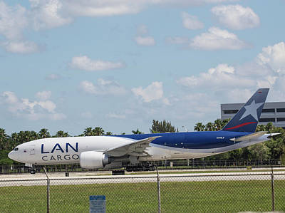 Photograph - Lan Cargo Jet At Mia by Dart and Suze Humeston
