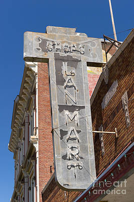 Photograph - Lan Mart Building In Petaluma California Usa Dsc3772 by Wingsdomain Art and Photography
