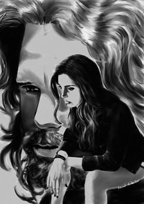 Lana Del Rey Drawing - Lana Del Rey And Jim Morrison by Vincent Martin