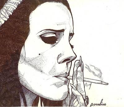 Lana Del Rey Art Print by Avijit Singh