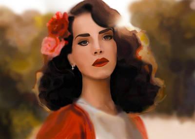 Lana Digital Art - Lana Del Rey by Ayaka Jiang