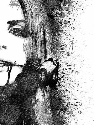 Lana Del Rey Half Face Portrait 2 Art Print