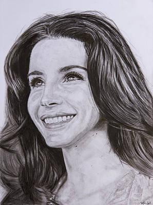 Lana Del Rey Drawing - Lana Del Rey by Steph Maiden