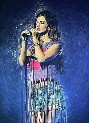 Lana Del Rey Digital Art - Lana Del Rey by Taylan Apukovska