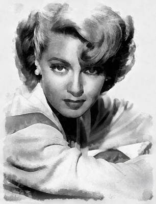 Television Painting - Lana Turner By John Springfield by John Springfield