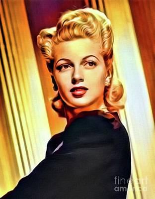 Lana Digital Art - Lana Turner, Vintage Actress. Digital Art By Mb by Mary Bassett