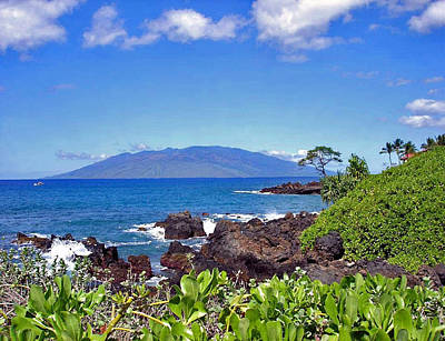 Photograph - Lanai From Maui by Ellen Henneke