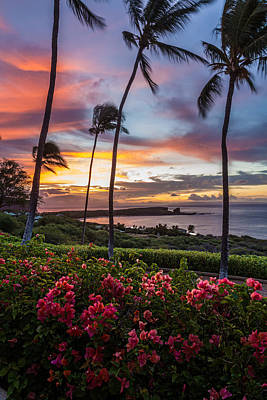 Photograph - Lanai Sunrise by Leigh Anne Meeks