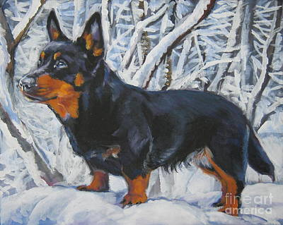 Painting - Lancashire Heeler In Snow by Lee Ann Shepard