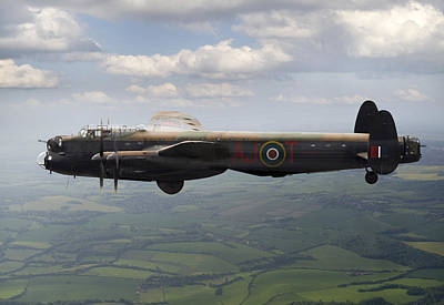 Photograph - Lancaster Aj-t Carrying Upkeep by Gary Eason