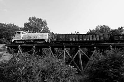 Photograph - Lancaster And Chester Emd Sw900 92 Black And White by Joseph C Hinson Photography