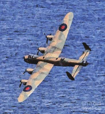 Plane Painting - Lancaster Bomber by Esoterica Art Agency