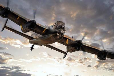 Kangaroo Digital Art - Lancaster Bomber Returns by J Biggadike