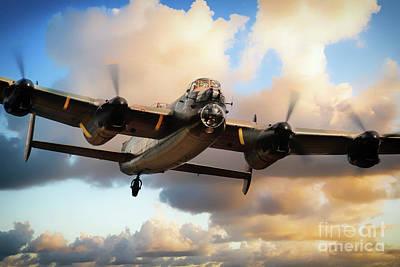 Kangaroo Digital Art - Lancaster Bomber - Skippy by J Biggadike