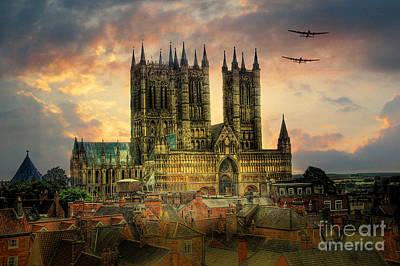 Canadian Heritage Digital Art - Lancaster Bombers Tour by J Biggadike