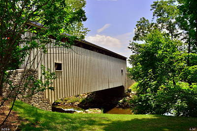Photograph - Lancaster County Covered Bridge by Lisa Wooten