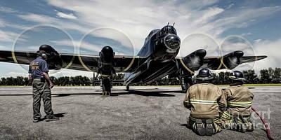Art Print featuring the photograph Lancaster Engine Test by Brad Allen Fine Art
