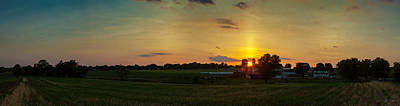 Photograph - Lancaster Farm Sunset Panorama by Ed Cilley