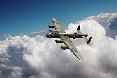 Photograph - Lancaster Kb799 Above Clouds by Gary Eason