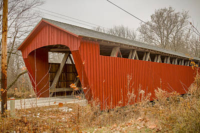 Photograph - Lancaster Or Beard Covered Bridge by Jack R Perry