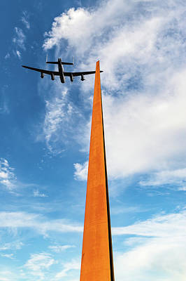Photograph - Lancaster Over The Ibcc Spire by Gary Eason