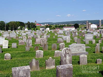Photograph - Lancaster Pa. Menonite Cemetery #1 by Ed Weidman