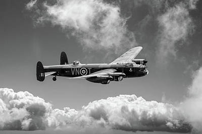 Photograph - Lancaster Pa474 Vn-t Bw Version by Gary Eason