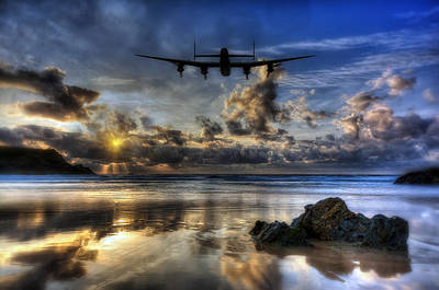 Canadian Heritage Photograph - Lancaster Silouette by Jason Green