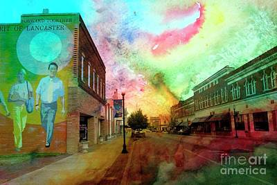 Mixed Media - Lancaster South Carolina by Bob Pardue