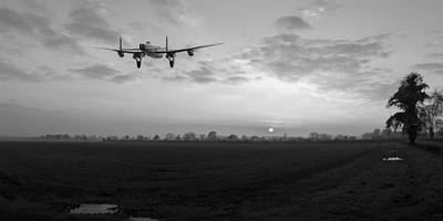Photograph - Lancaster Sunset Black And White Version by Gary Eason