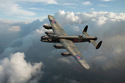 Photograph - Lancaster W5005 Ar-l Leader Above Clouds by Gary Eason
