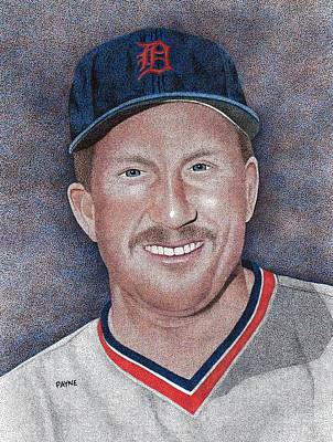 Detroit Tigers Drawing - Lance Parrish by Rob Payne