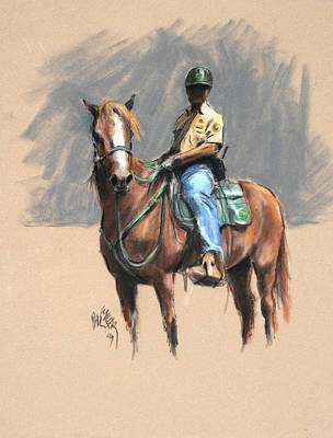 Lance With National Park Service Volunteer Aboard Art Print by Paul Miller