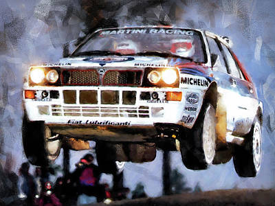 Martini Royalty-Free and Rights-Managed Images - Lancia Delta Integrale - 01 by Andrea Mazzocchetti
