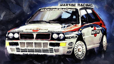 Martini Royalty-Free and Rights-Managed Images - Lancia Delta Integrale - 05 by Andrea Mazzocchetti