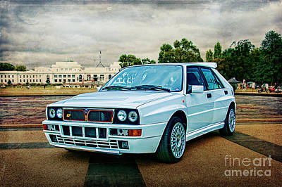 Photograph - Lancia Delta Hf Integrale Evoluzione by Stuart Row