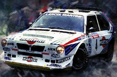 Martini Royalty-Free and Rights-Managed Images - Lancia Delta S4 - 02 by Andrea Mazzocchetti