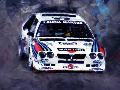 Martini Paintings - Lancia Delta S4 - 03 by Andrea Mazzocchetti