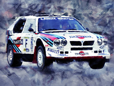 Martini Royalty-Free and Rights-Managed Images -  Lancia Delta S4 - 04 by Andrea Mazzocchetti