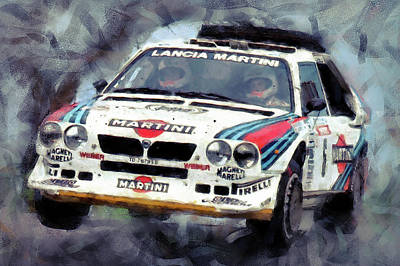 Martini Royalty-Free and Rights-Managed Images - Lancia Delta S4 - 05  by Andrea Mazzocchetti
