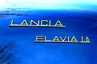 Flavia Photograph - Lancia Flavia Colorful Sign by Alex Antoine