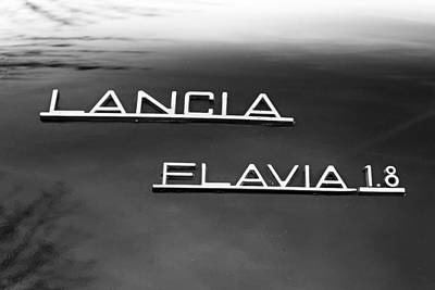 Flavia Photograph - Lancia Flavia Sign Reflects by Alex Antoine